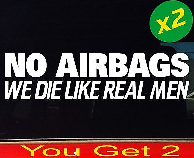 AU6.90 • Buy 2 X NO AIRBAGS Funny 4x4 Jdm Mx Ute Drift Bomb Car Stickers 200mm
