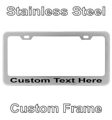 $9.95 • Buy Personalized Engraved License Plate Tag Frame Text Letter Holder Chrome Custom