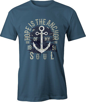 Hope Is The Anchor Retro T Shirt • 12.99£