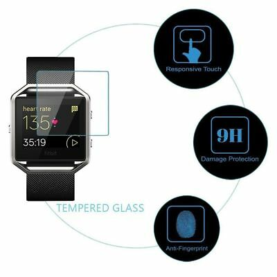 AU6.36 • Buy Premium Real Tempered Glass Film Screen Protector For Fitbit Blaze Smart Watch