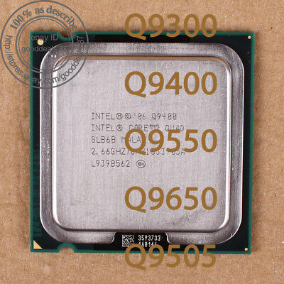 $ CDN36.12 • Buy Intel Core 2 Quad Q9300 Q9400 Q9550 Q9650 Q9505 Socket 775 Processor CPU