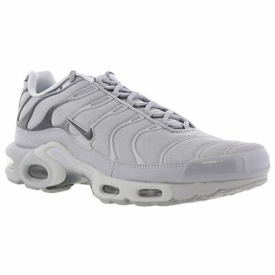 Mens Nike Air Max Plus TN Sneakers New, Wolf Gray / White 852630-006 • 79.99$