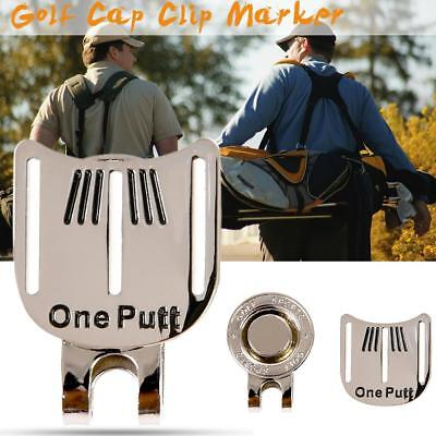 One Putt Golf Putting Alignment Aiming Tool Ball Marker With Magnetic Hat  Clip • 1.89  d0fb8af91ab4