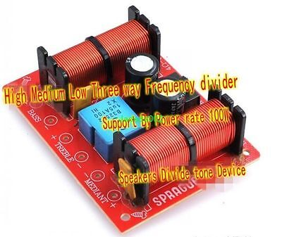 $ CDN12.40 • Buy 1pcs 3-Way Audio Crossover Filter Speaker Frequency Divider 400W 4~8ohm