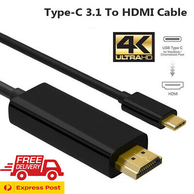 AU11.29 • Buy USB Type C To HDMI Cable USB 3.1 To HDMI 4K Cord For Samsung S8 S8+ S9 Note 8
