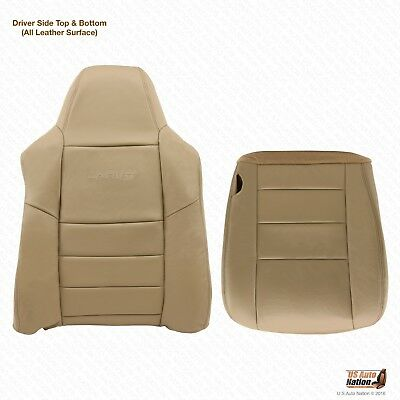 $296.49 • Buy 2004 2005 Ford F-250 F-350 Driver Bottom-Top Lean Back Leather Seat Cover Tan