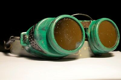 $39.99 • Buy VTG Antique Steampunk Motorcycle Aviator Military Goggles SunGlasses  Retro WWII