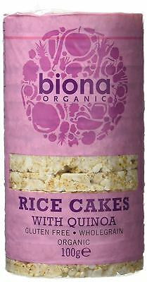 £9.88 • Buy Biona Organic Rice Cakes With Quinoa 100g (Pack Of 6)