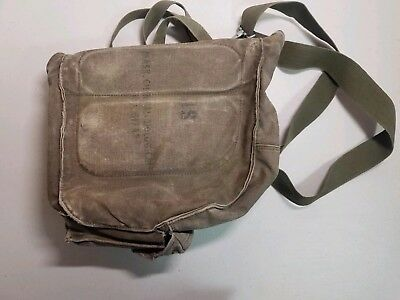 $29 • Buy VINTAGE M17 A1 US ARMY GAS MASK Canvas Bag CHEMICAL BIOLOGICAL