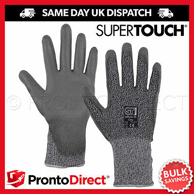 £4.79 • Buy Anti Cut Gloves Resistant Pu Work Safety Builders Protection Level 5 120 Pairs