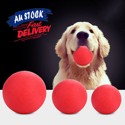 AU10.92 • Buy Solid Training Toy Rubber Ball Pet Puppy Dog Chew Play Fetch Bite
