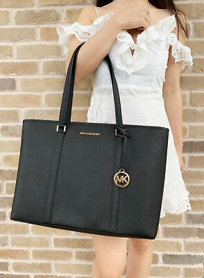 b3efad18d0d8 Michael Kors Sady Large Multifunctional Top Zip Tote Black Large Laptop Bag  • 229.00