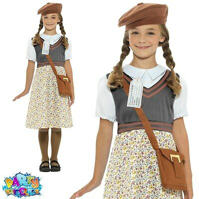 Child WW2 Wartime School Girl Costume Girls Book Week Day Fancy Dress Outfit  • 15.29£
