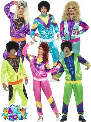 Mens Ladies 80s Shell Suit Fancy Dress Costume Scouser Tracksuit Womens Couples • 17.99£