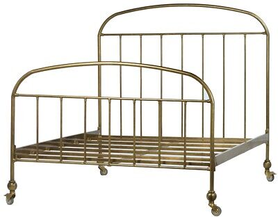 $ CDN2664.27 • Buy 84  Livio Bed Queen Brass Frame Four Wheels Modern Sleek Design Smooth Finish