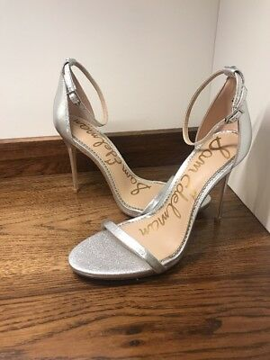$ CDN33.27 • Buy $110 Sam Edelman Ariella Strappy Heels Shiny Silver Women Size 10 M US New