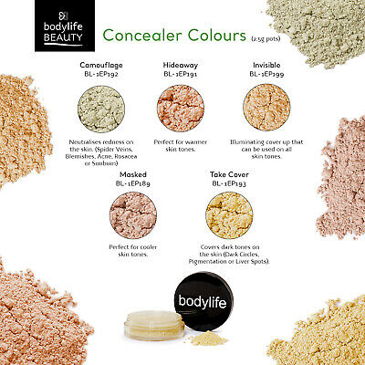 £2.99 • Buy Bodylife Beauty Makeup Natural Mineral Concealers 2.5g