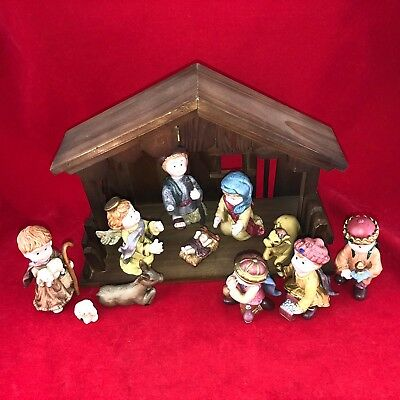£21.24 • Buy New Dillards Nativity Figurines With Stable