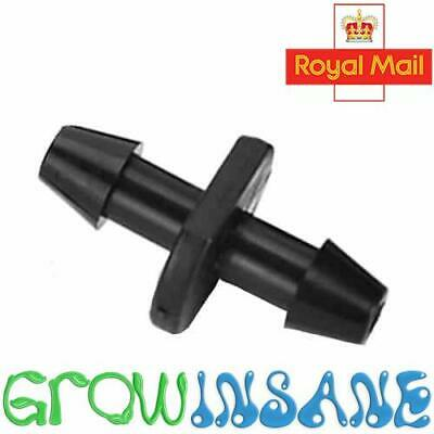 £1.99 • Buy 4mm Straight Connector Micro Irrigation Joiner PVC 13mm Offtake Fits Hozelock