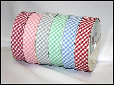 £4.89 • Buy Gingham Patterned Bias Binding Tape 30mm - Various Colours - Same Day Post