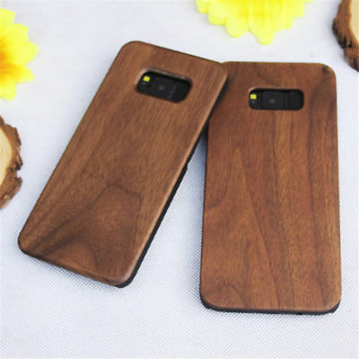 AU11.59 • Buy Natural Wood Bamboo Hard Protect Case PC Cover For Samsung Galaxy S10 S9+ Plus