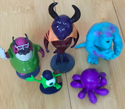 3  Set Of 5 Monsters Inc/university Figures/cake Toppers • 8£