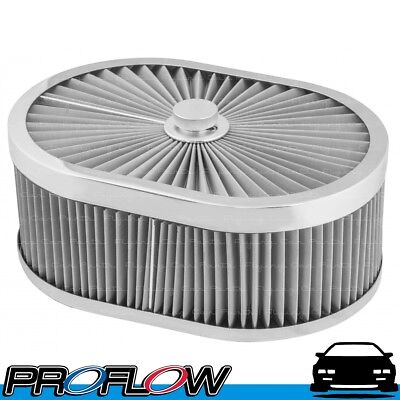 AU116.84 • Buy PROFLOW Flow Top Air Filter Cleaner 12  X 9  X 5  For 5-1/8  Flat Base Stainless