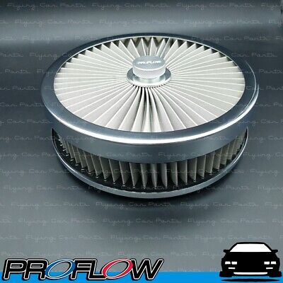 AU107.32 • Buy PROFLOW Flow Top Air Filter Cleaner 9  X 2  Washable Reusable Flat Base S/S