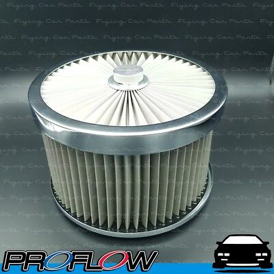 AU107.32 • Buy PROFLOW Flow Top Air Filter Cleaner 9  X 5  Washable Reusable Flat Base S/S