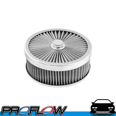 AU107.32 • Buy PROFLOW Flow Top Air Filter Cleaner 9  X 3  Washable Reusable Flat Base S/S