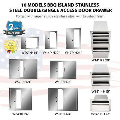 $57.76 • Buy BBQ Multi-size Double Single Doors Drawer Outdoor Kitchen Stainless Steel Access