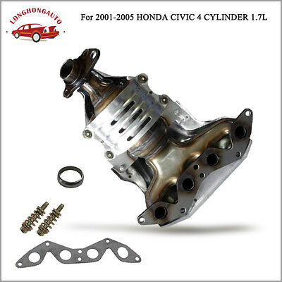 $82.45 • Buy Header Exhaust Manifold W/ Catalytic Converter For 01-05 Honda Civic 1.7L 4 Cyl