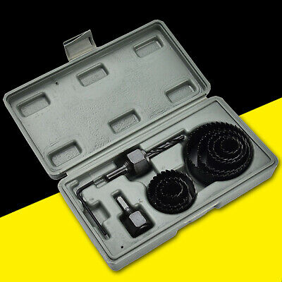 £6.69 • Buy 11Pc HOLE SAW CUTTER SET Round/Circular Drill Cutting Case Kit Metal/Alloy/Wood