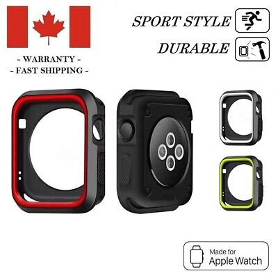 $ CDN6.95 • Buy 38mm 42 Mm Heavy Duty Sports Rugged Case Cover For Apple Watch Series 3 2 1