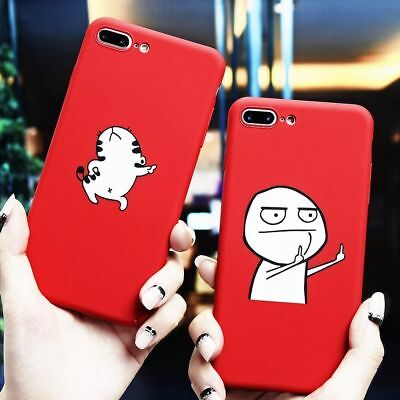 AU12.23 • Buy Phone Case For IPhone 7 6 6S 8 8S Plus X Meme Red Cover Soft Ultra Thin Slim Cat
