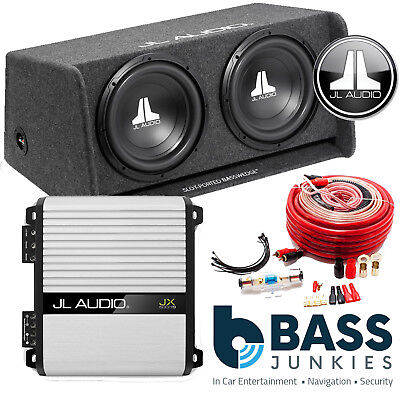 £649 • Buy JL Audio Double Bass Wedge 12  Ported Car Sub Woofer Bass Box & JX500.1 Amp Pack
