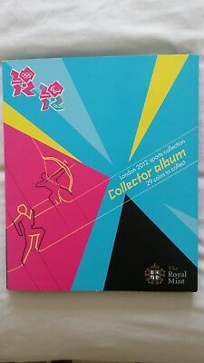 £450 • Buy The Royal Mint London 2012 Sports Collection Collector Album 29 Coins To Collect