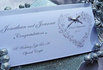 £4.49 • Buy Handmade Personalised Wedding Day Gift Wallet With Envelope Money-Voucher
