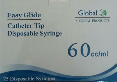 Easy Glide-sterile New Syringe Only No Needle Agriculture & Forestry 3 Pack Catheter Tip Syringe 60ml