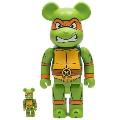 $149.99 • Buy Medicom BE@RBRICK TMNT Michelangelo 100% 400% Bearbrick Figure Set
