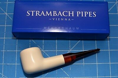 AU140.61 • Buy Princess Hand Made MEERSCHAUM Pipe By STRAMBACH Austria (bauer) NEW 9mm Filter ☦