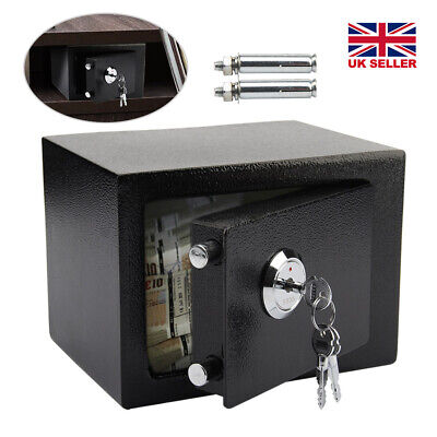 Digital Steel Safe Electronic Security Home Office Money Cash Safety Box Black • 20.99£