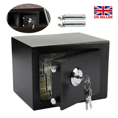 £21.99 • Buy Solid Steel Safe Security Fireproof Home Office Money Cash Valuables Box Black