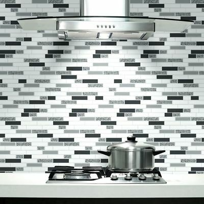 £14.49 • Buy Black, White & Grey With Glitter, Tiling On A Roll, Kitchen / Bathroom Wallpaper