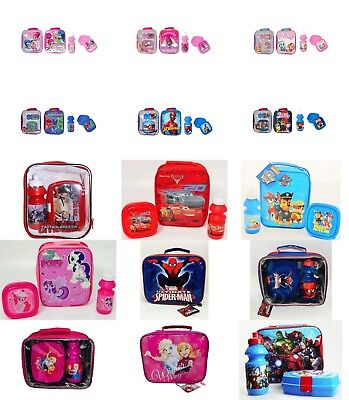 Kids Boys Girls Character Lunch Bag Only And 3 Piece Sets For Various Use. • 8.99£