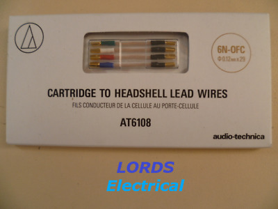 £29 • Buy Audio Technica At6108 Cartridge To Headshell High Purity Lead Wires 6n-ocf
