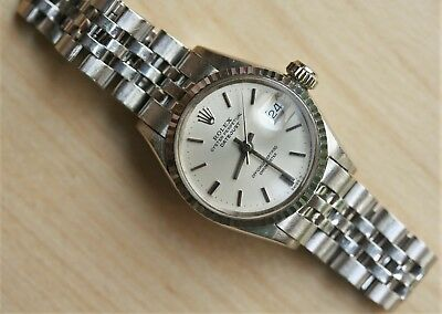 $ CDN6680.33 • Buy Solid 18K White Gold Rolex Ladies Datejust Model 6517 Well Preserved