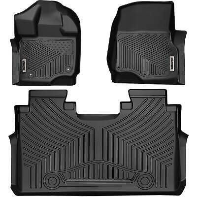 OEDRO Floor Mats Liners Unique Black TPE For 15-20 Ford F-150 SuperCrew Cab • 114.99$