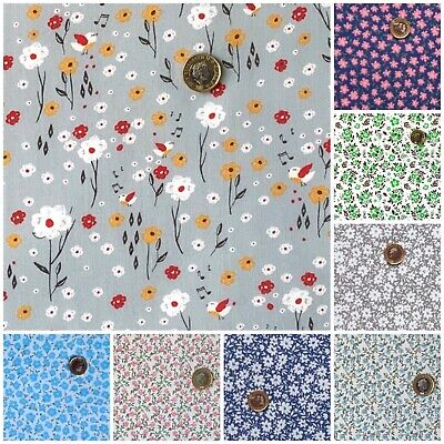 £4.20 • Buy Polycotton Fabric Quality Craft Material Fat Quarter Metre Flower DITSY FLORAL D