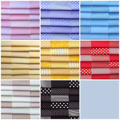 £6.05 • Buy Fabric Patchwork Squares Cotton Quilting Craft 30 X 4  5  6  Blenders Basics B